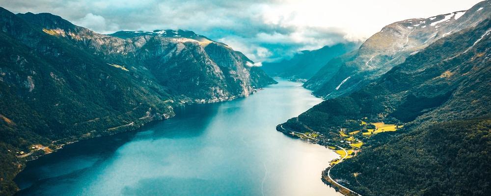 Norwegian fjord by @raimondklavins