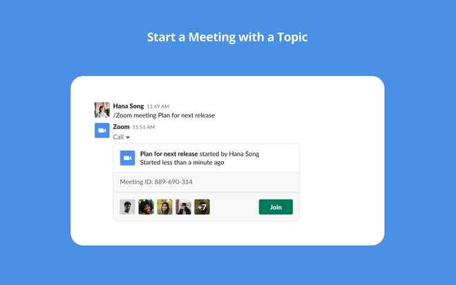 Collaboration tools for Slack – Zoom