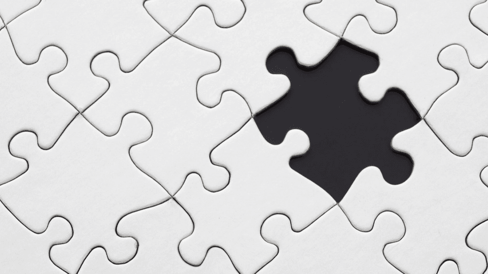 Photo of puzzle missing a piece by Pixabay