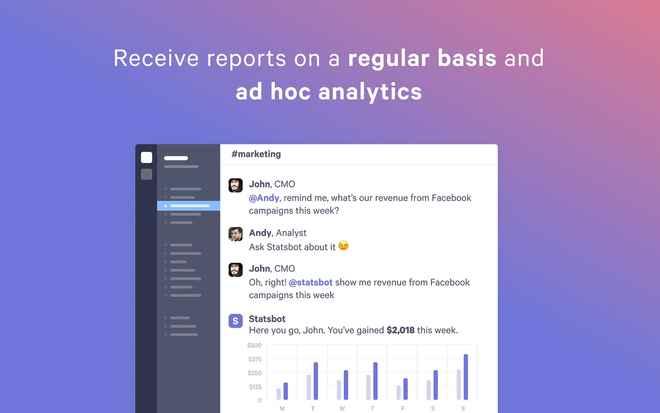 Collaboration tools for Slack – Statsbot