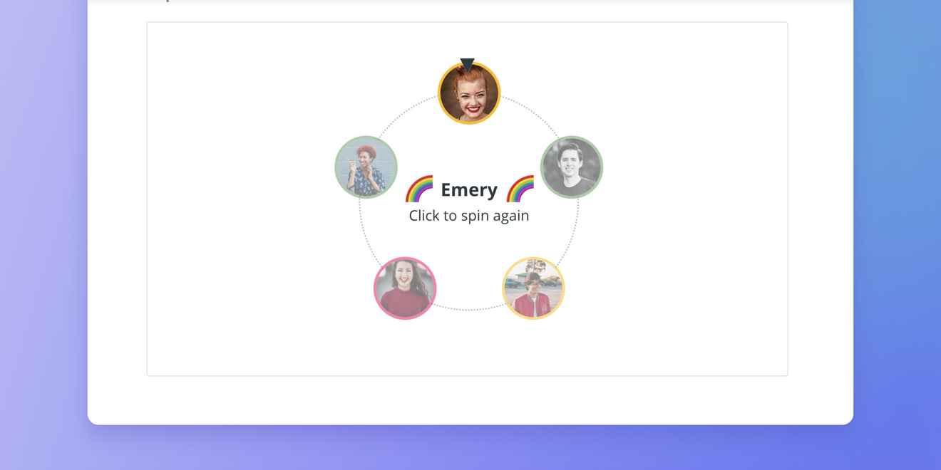Range Meetings team spinner tool