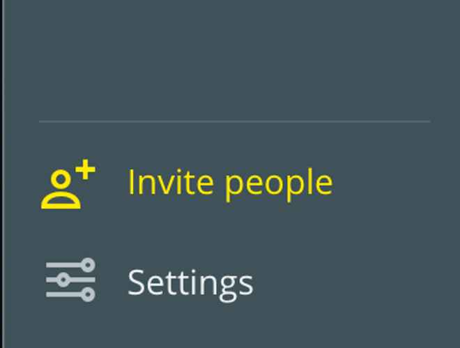 Invite people from your team