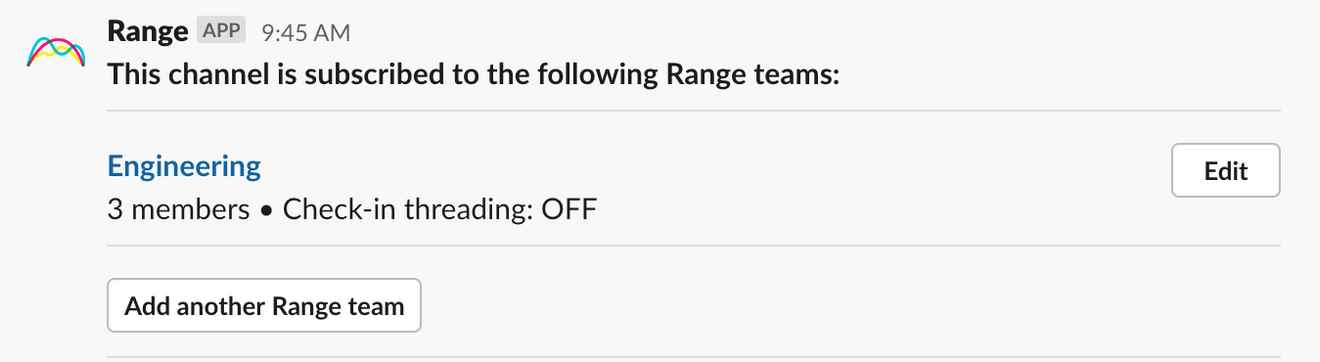 Editing subscription settings in Slack