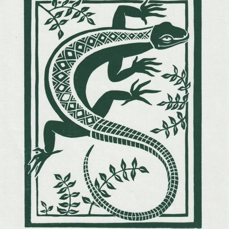 Gini Wade, Lizard, Green, 2020