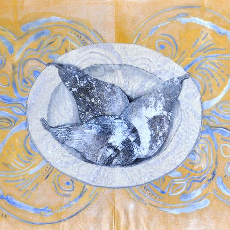 Judith Crawford , Three Pears on a Dish , 2021