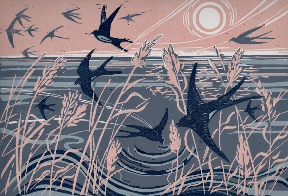 Diane Rose, A Swoop of Swallows, 2020
