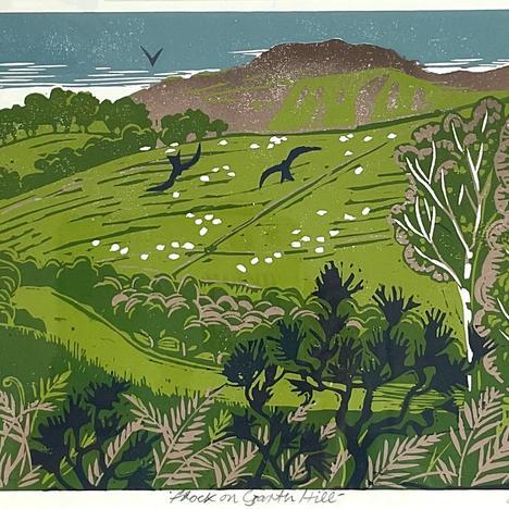 Diane Rose , Flock on Garth Hill, null