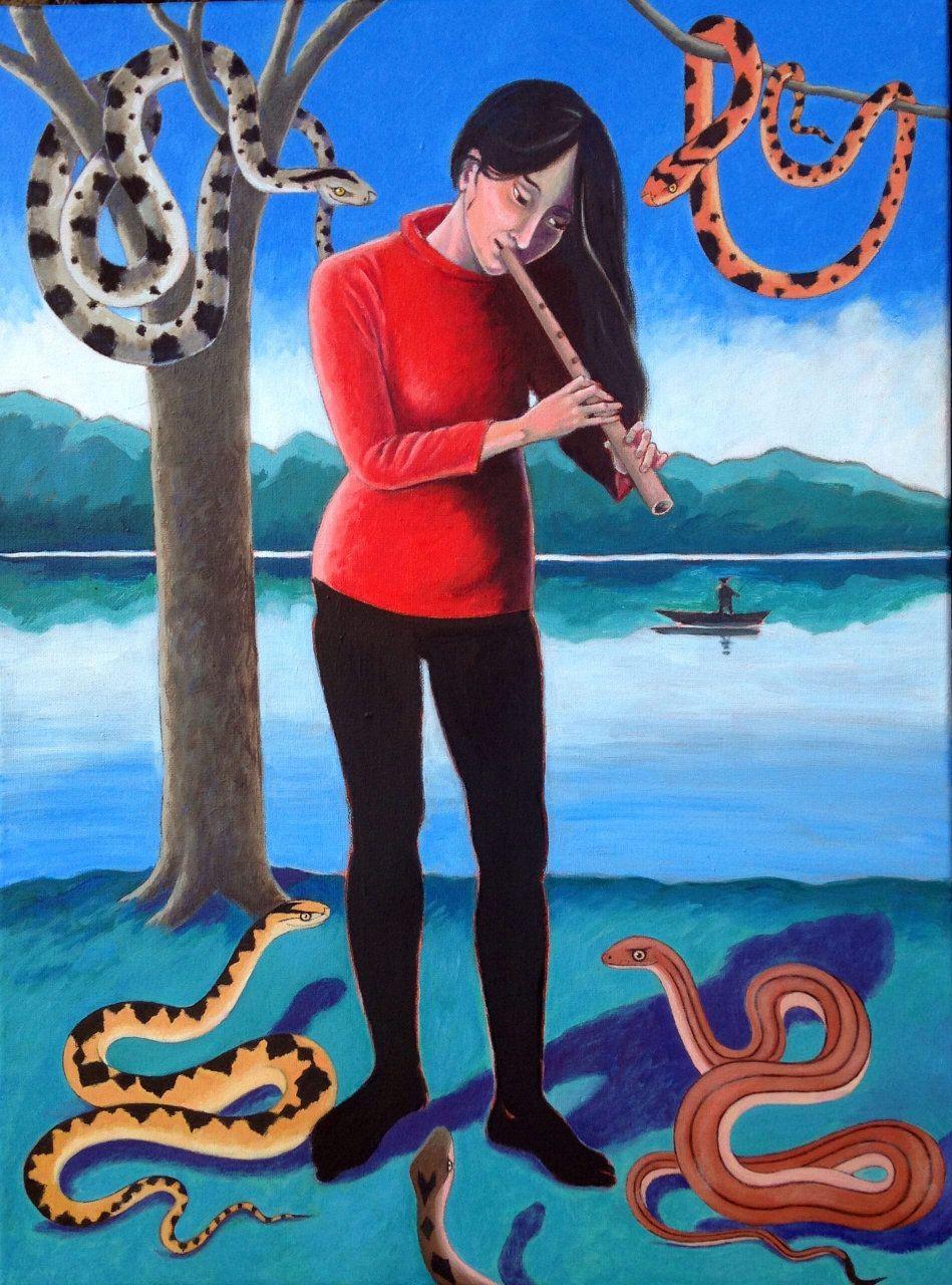 Gini Wade, The Snake Charmer, 2020