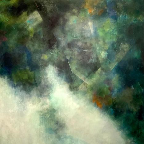 Junko Burton , Look-up II, 105.8 x 106cm
