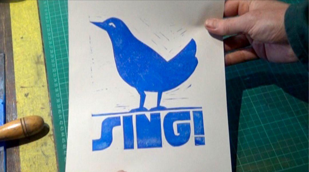 5 minute lino print tutorial by Jeb Loy Nichols