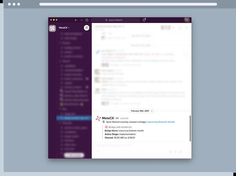 Slack Integration Screenshot