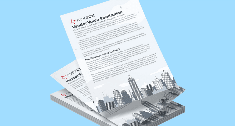 Vendor Value Realization One Pager
