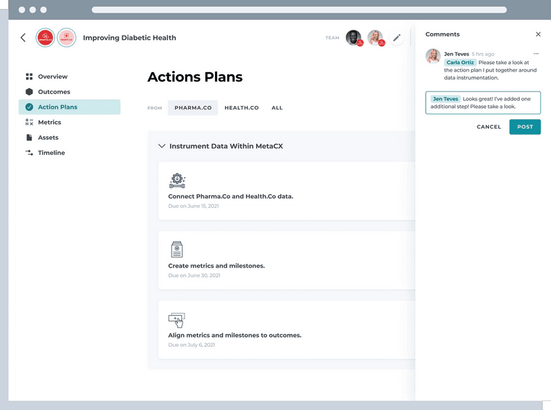 Action Plans Screen