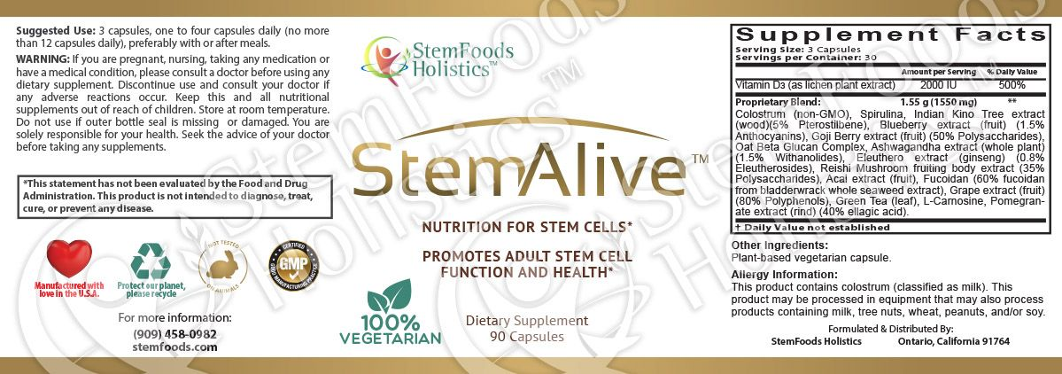 StemAlive facts