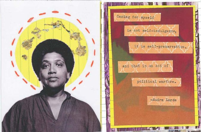 Collage with words from Audre Lorde