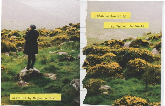 Back and front cover of the self-care zine