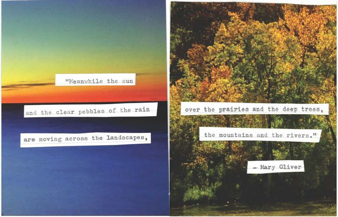 Collage with poem by Mary Oliver