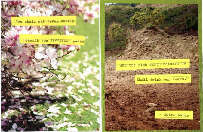 Collage wit poem from Audre Lorde