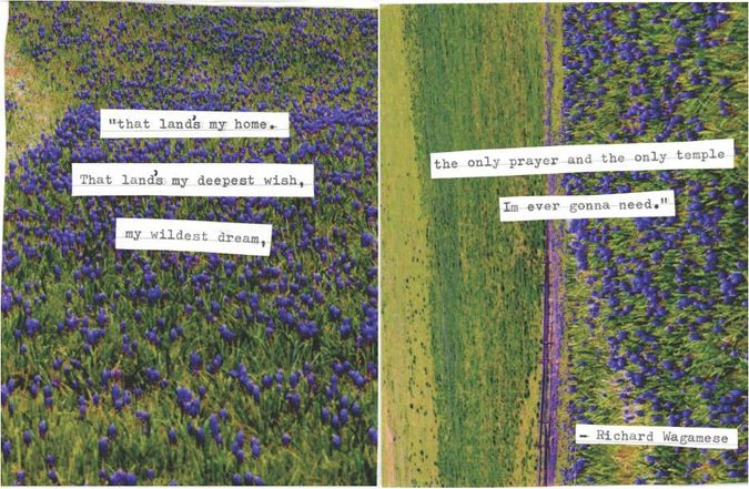 Collage with poem from Richard Wagamese