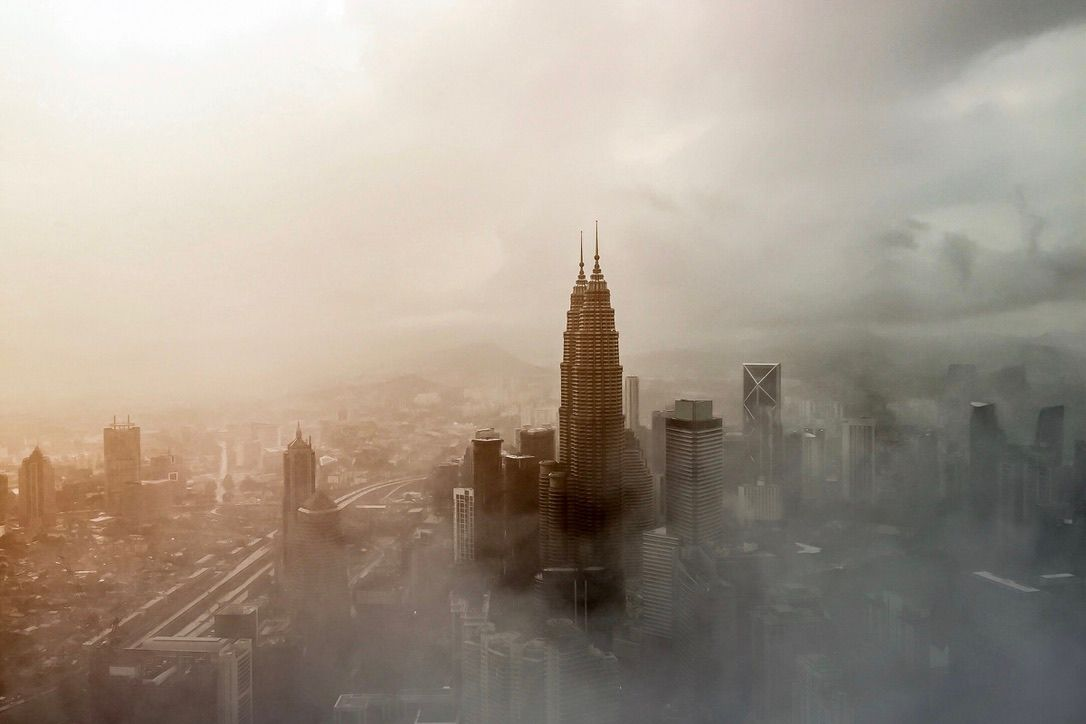 View from KL Tower on hazy day