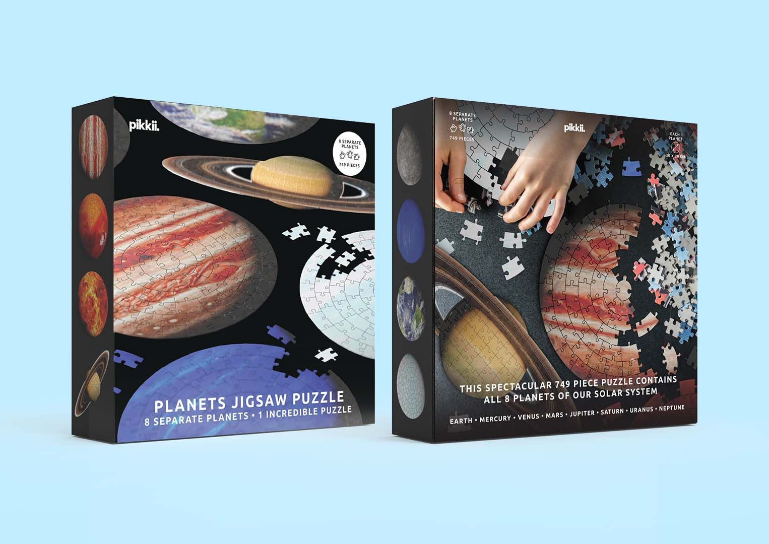 Planet Jigsaw Puzzle Packaging Front And Back