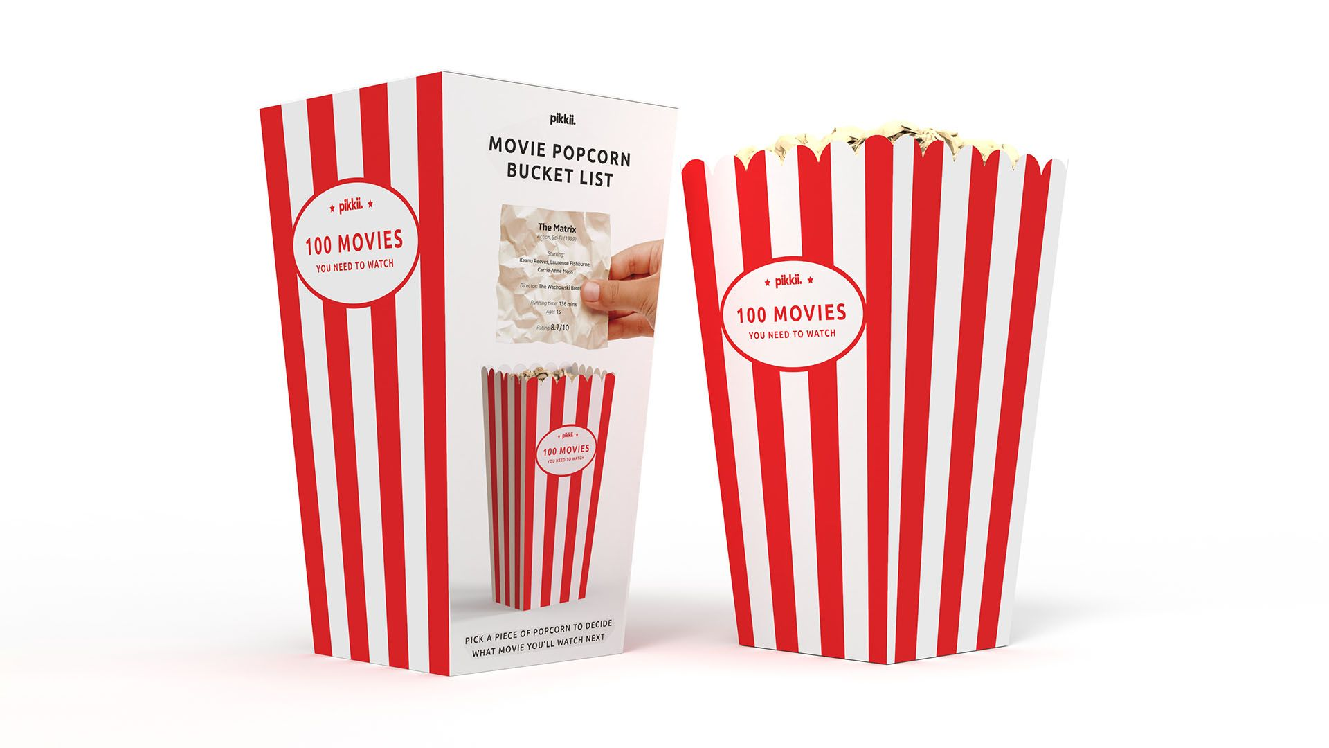 Movie Popcron Bucket List Packaging Front And Back