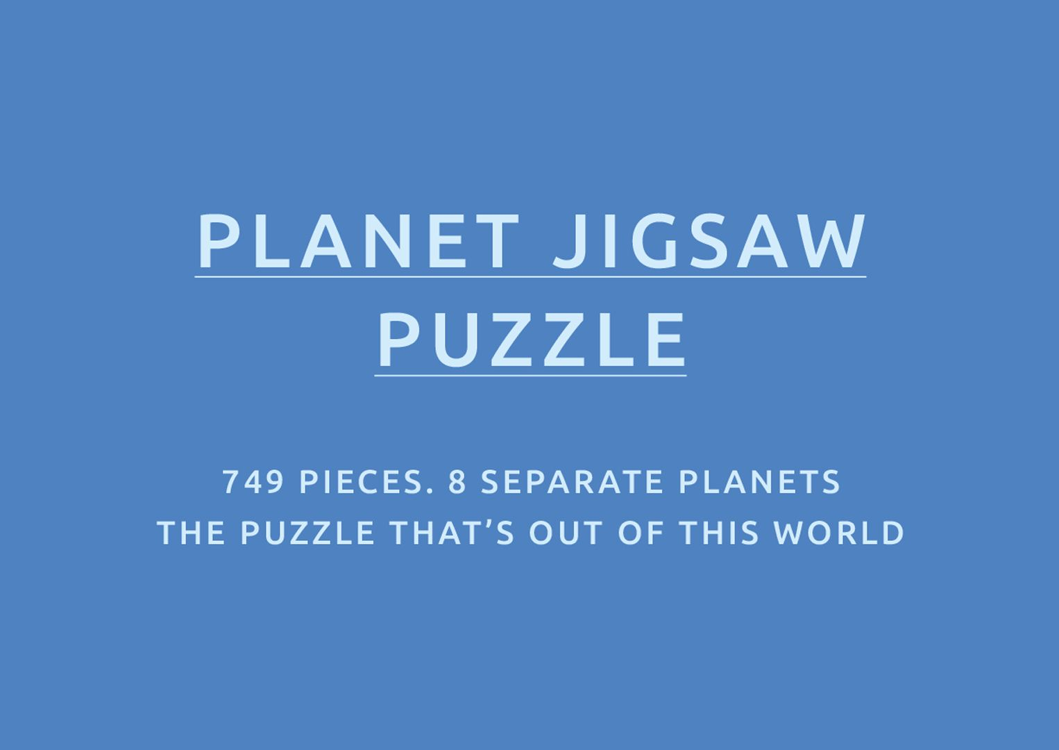 Planet Jigsaw Puzzle Text