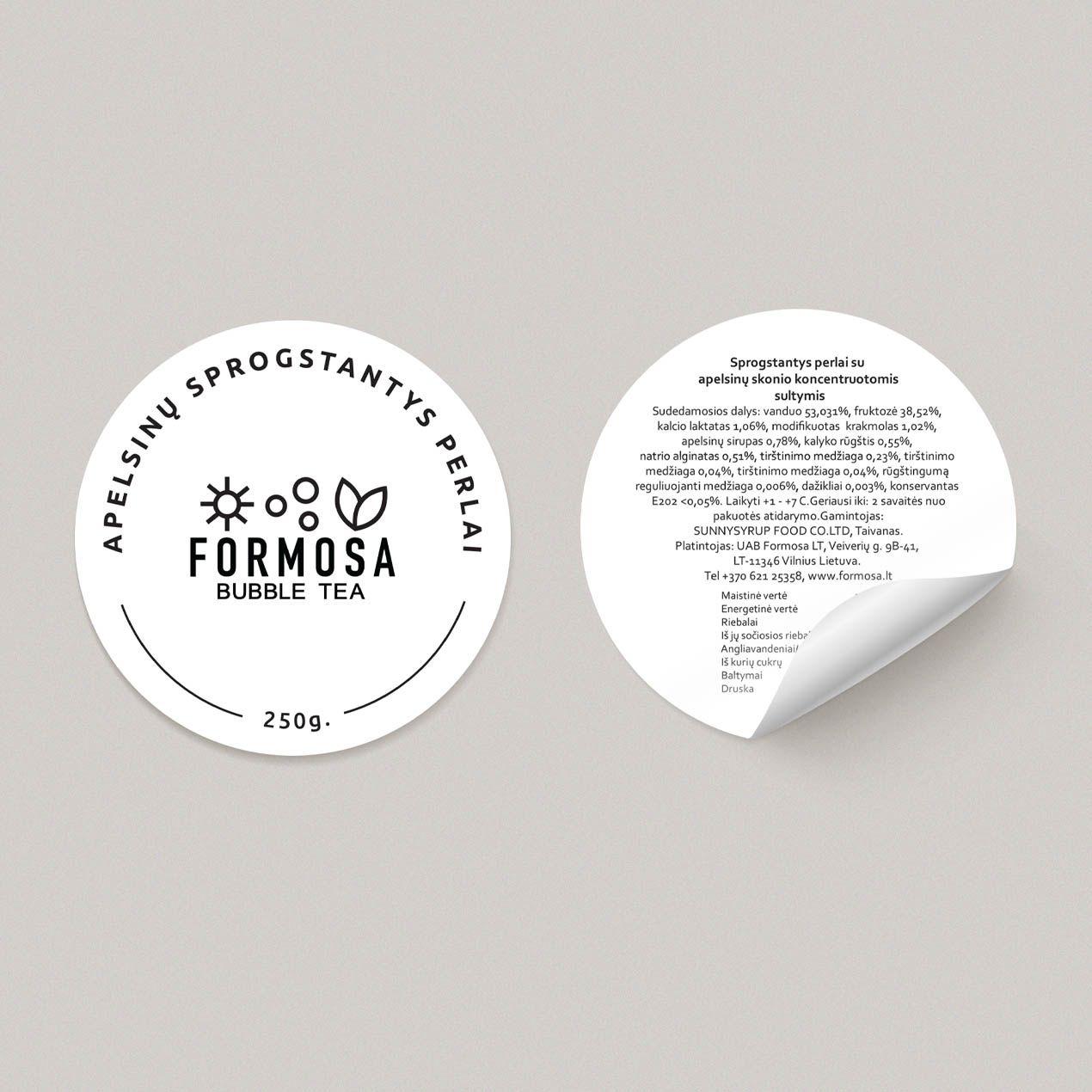 Formosa Bubble Tea Paper Stickers Mockup