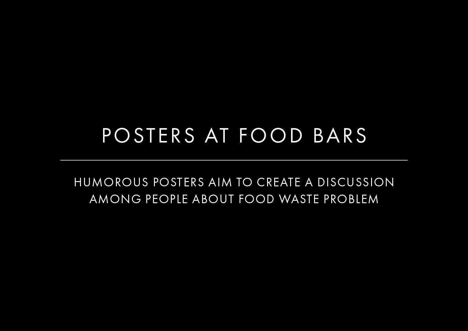 Posters At Food Bars