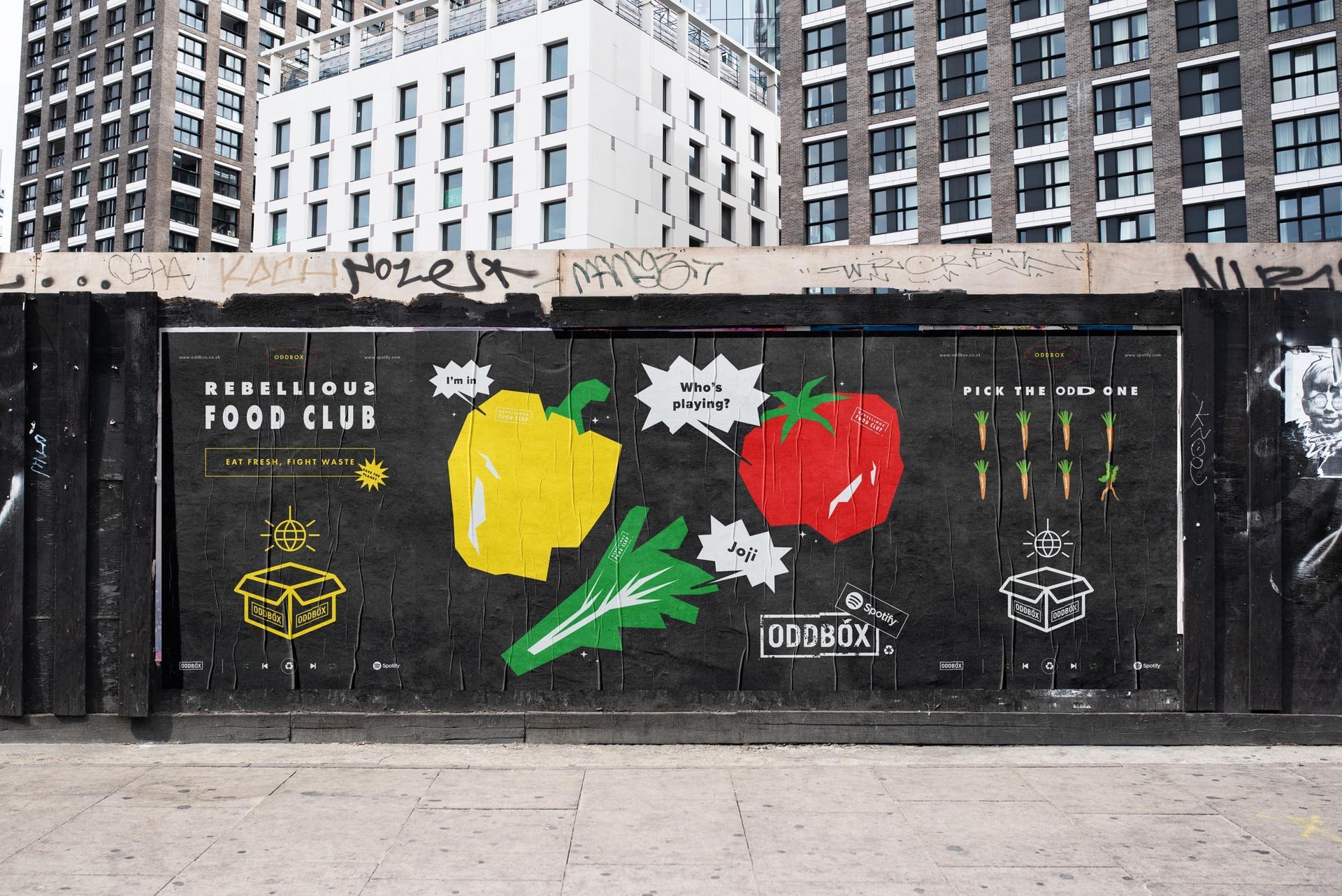 Oddbox x Spotify Street Poster Series