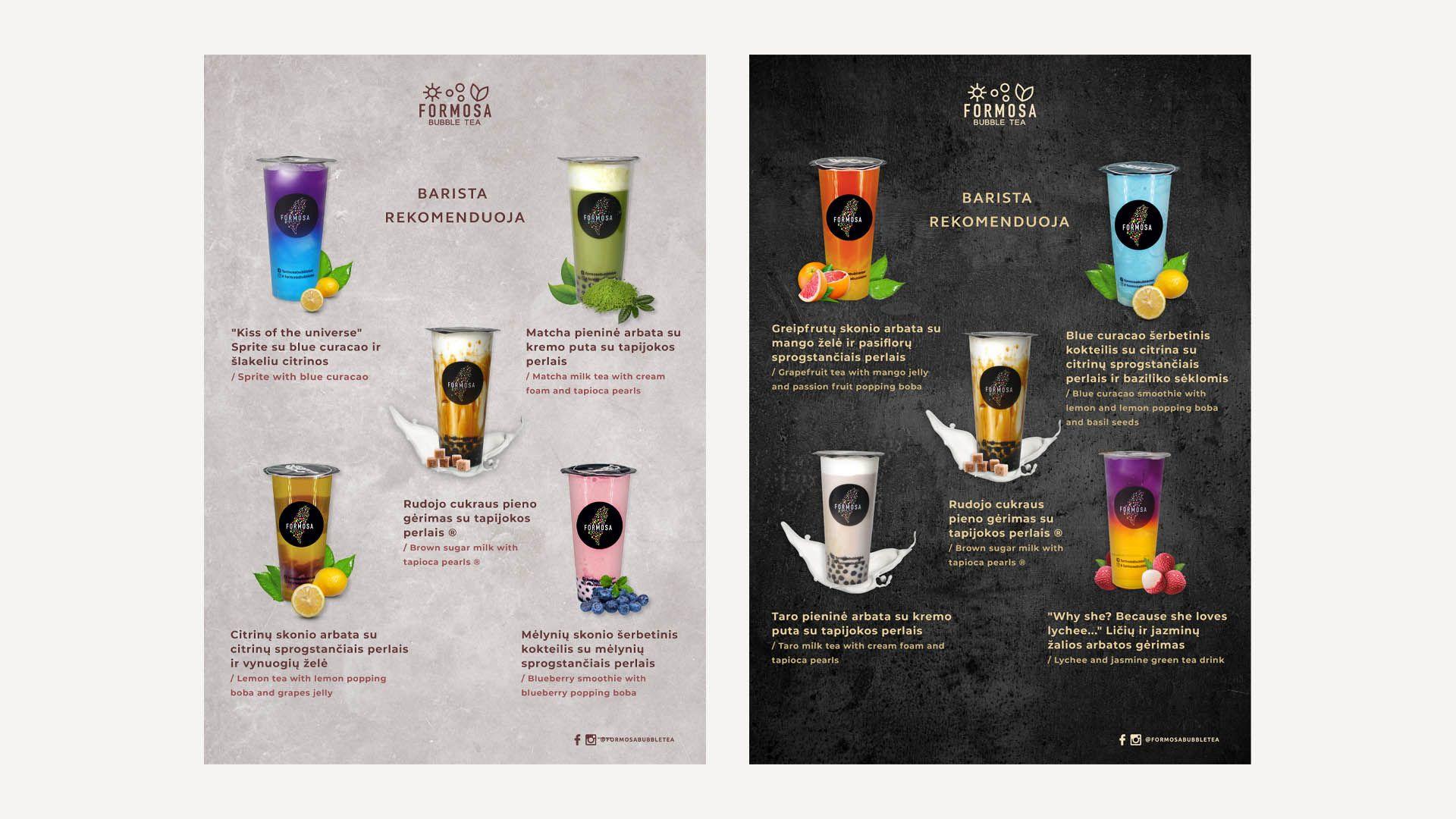 Formosa Bubble Tea Drinks Posters