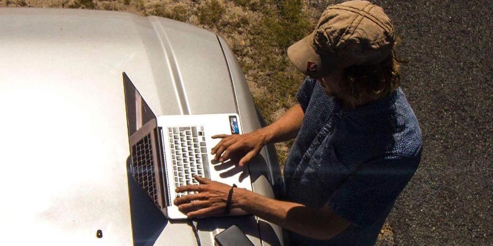 Website kapot? Geen probleem. In Zuid-Afrika kon ik dankzij 4G werken terwijl ik met een Jeep in the middle of nowhere stond