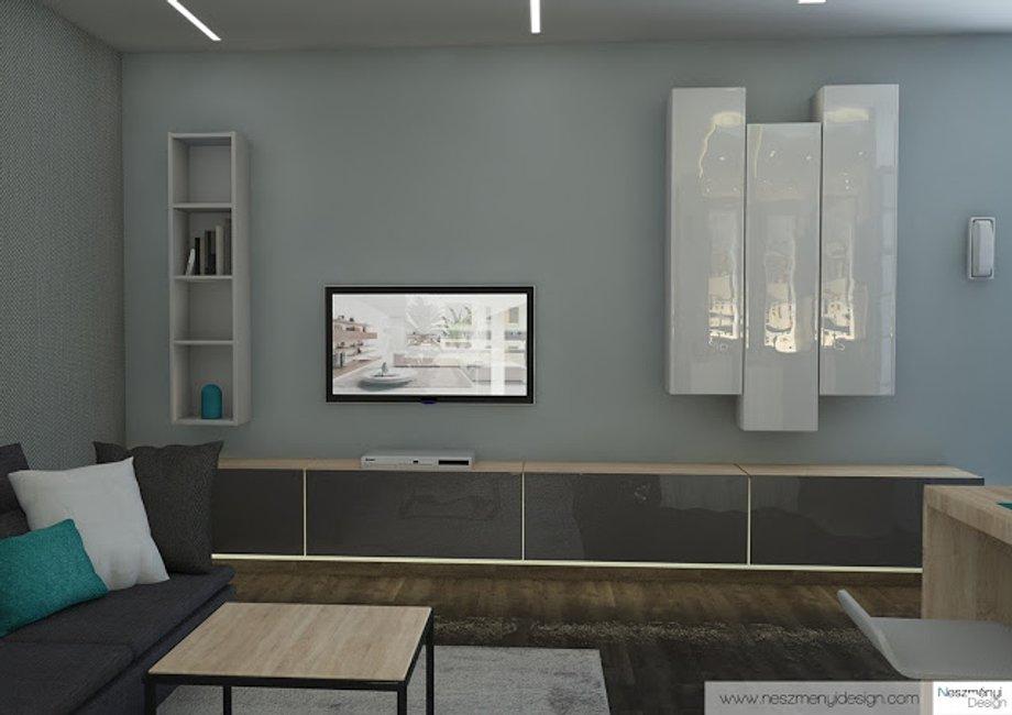 Borítókép Legújabb munkám - minimalista lakás szürkével