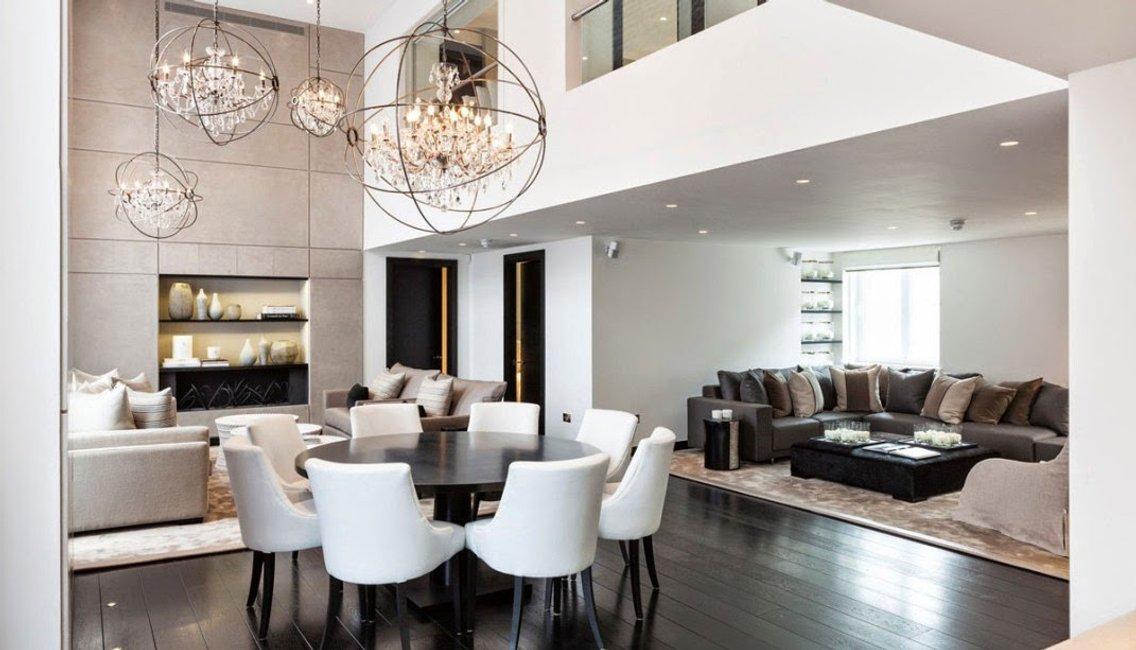 Borítókép Luxus harmónia, íves formavilág a gyönyörű londoni lakásban