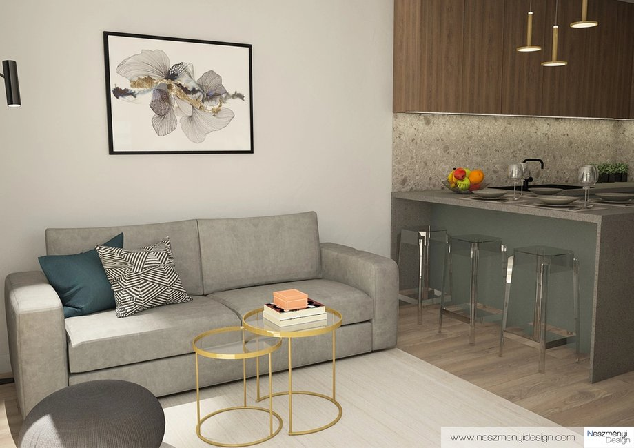 Borítókép Legújabb munkám - Minimalista airbnb-s lakás a Corvin-negyedben