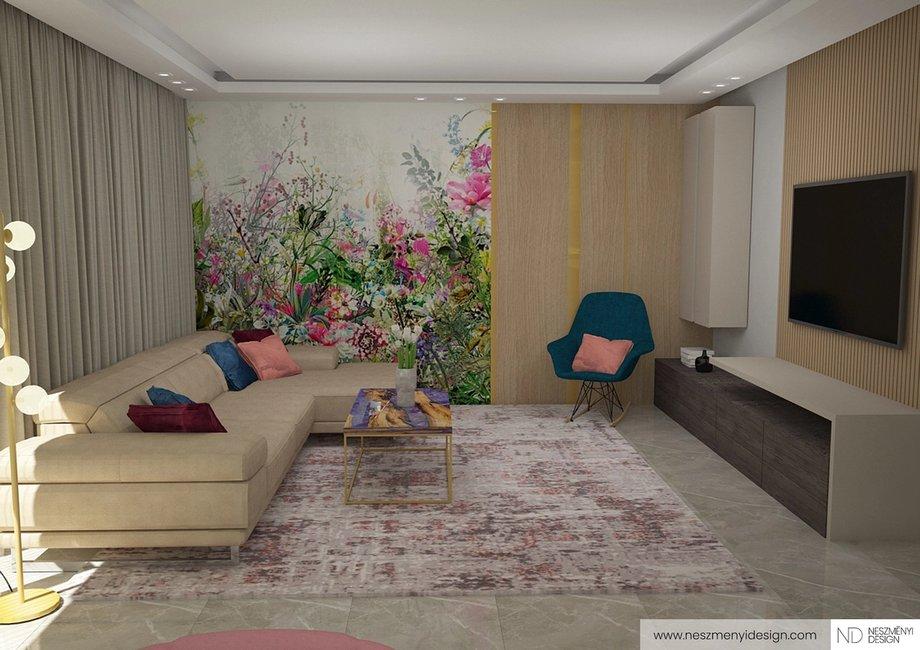 Borítókép Családi ház nappali-konyha redesign