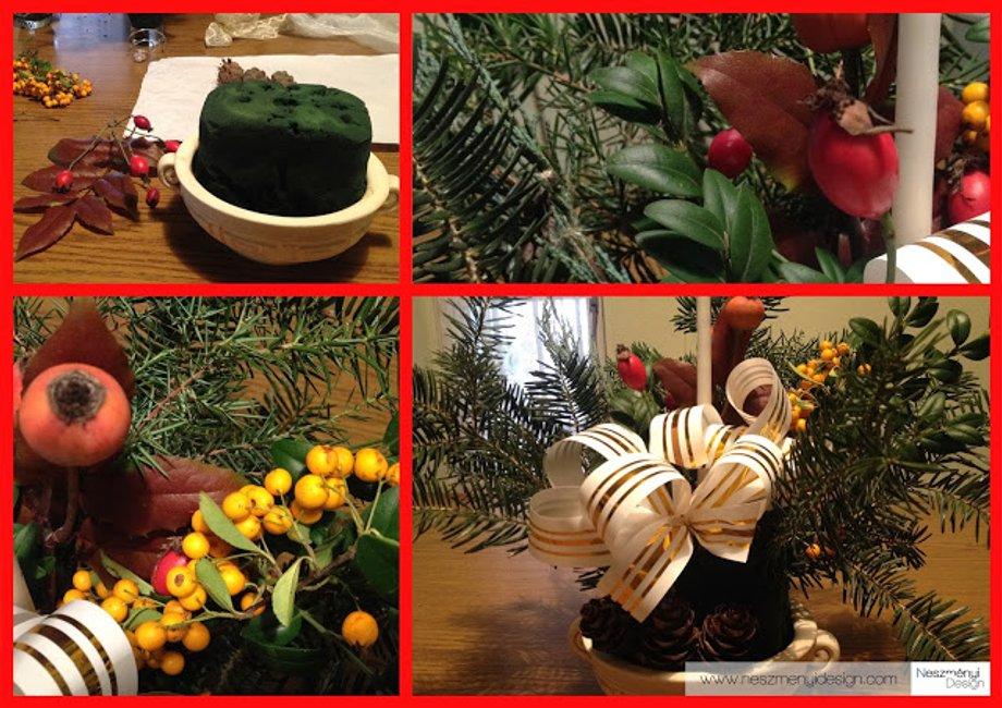 Borítókép Klasszikus karácsonyi asztali dísz