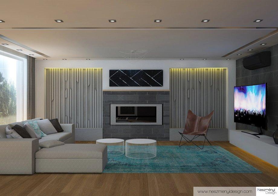 Borítókép Legújabb munkám - ultramodern nappali és háló Dunakeszin