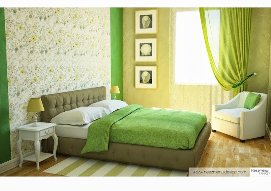 Borítókép Látványterv a szobámról! - Ilyen legyen a zöld hálószoba!