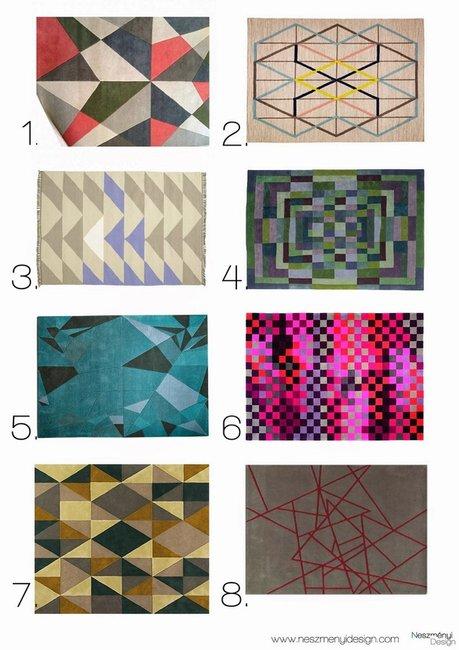 Borítókép 8 szuper geometrikus mintájú szőnyeg nappaliba