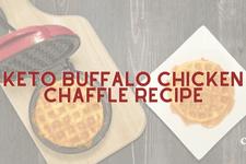 Keto Buffalo Chicken Chaffle Recipe card image