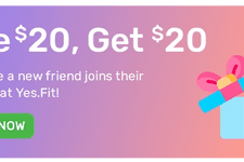 Give $20, Earn $20 with Yes.Fit's Rewards Program card image
