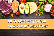 Top 70+ Foods to Consume on a Low Carb Diet, High Fat Diet card image