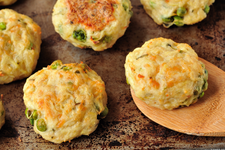 VEGAN POTATO CAKES WITH CARROTS AND RICE card image