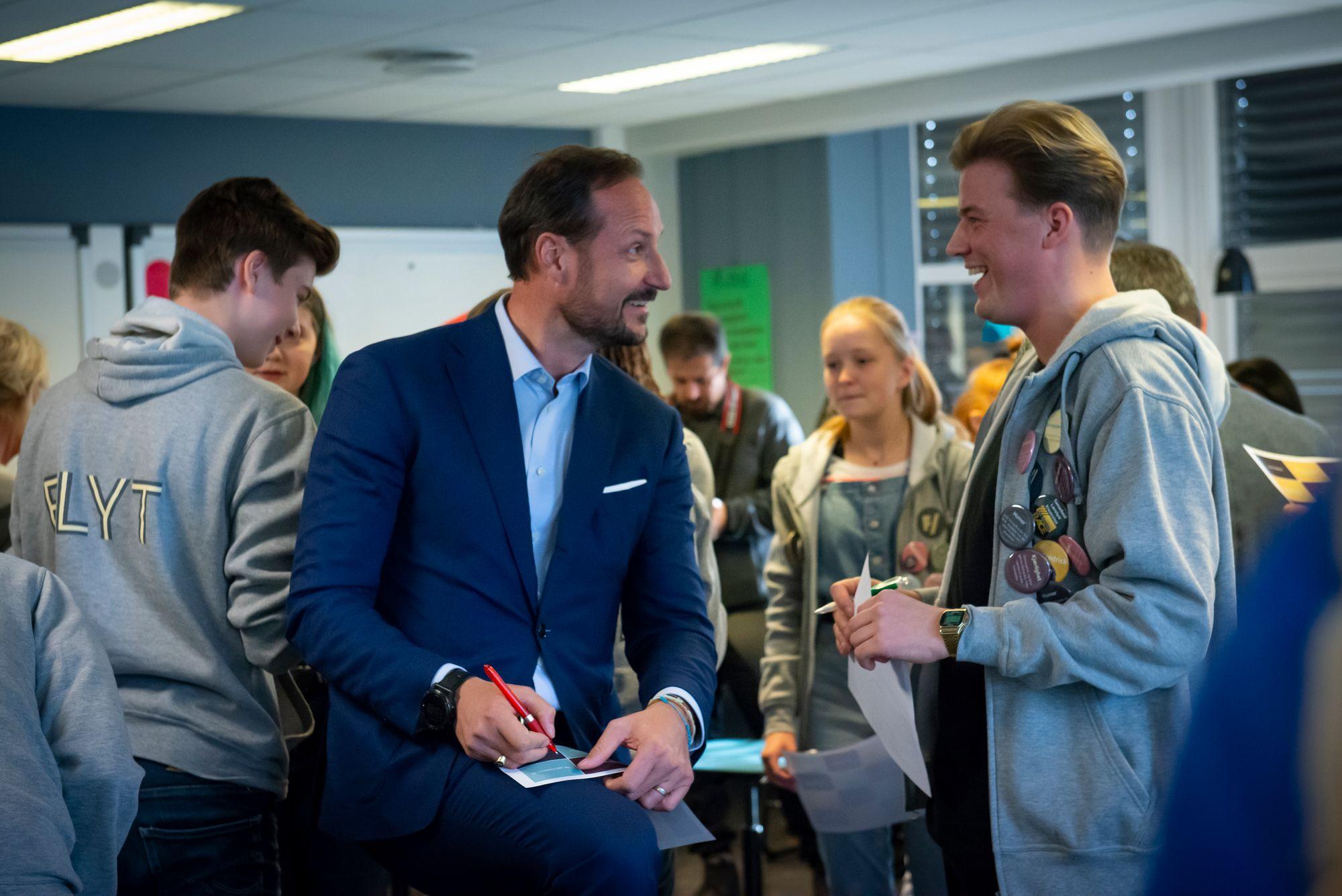 Kronprins Haakon på Flyt arrangement