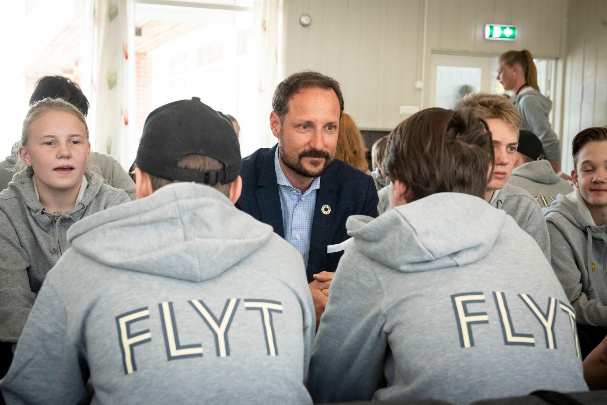 Kronprins Håkon på Flyt arrangement