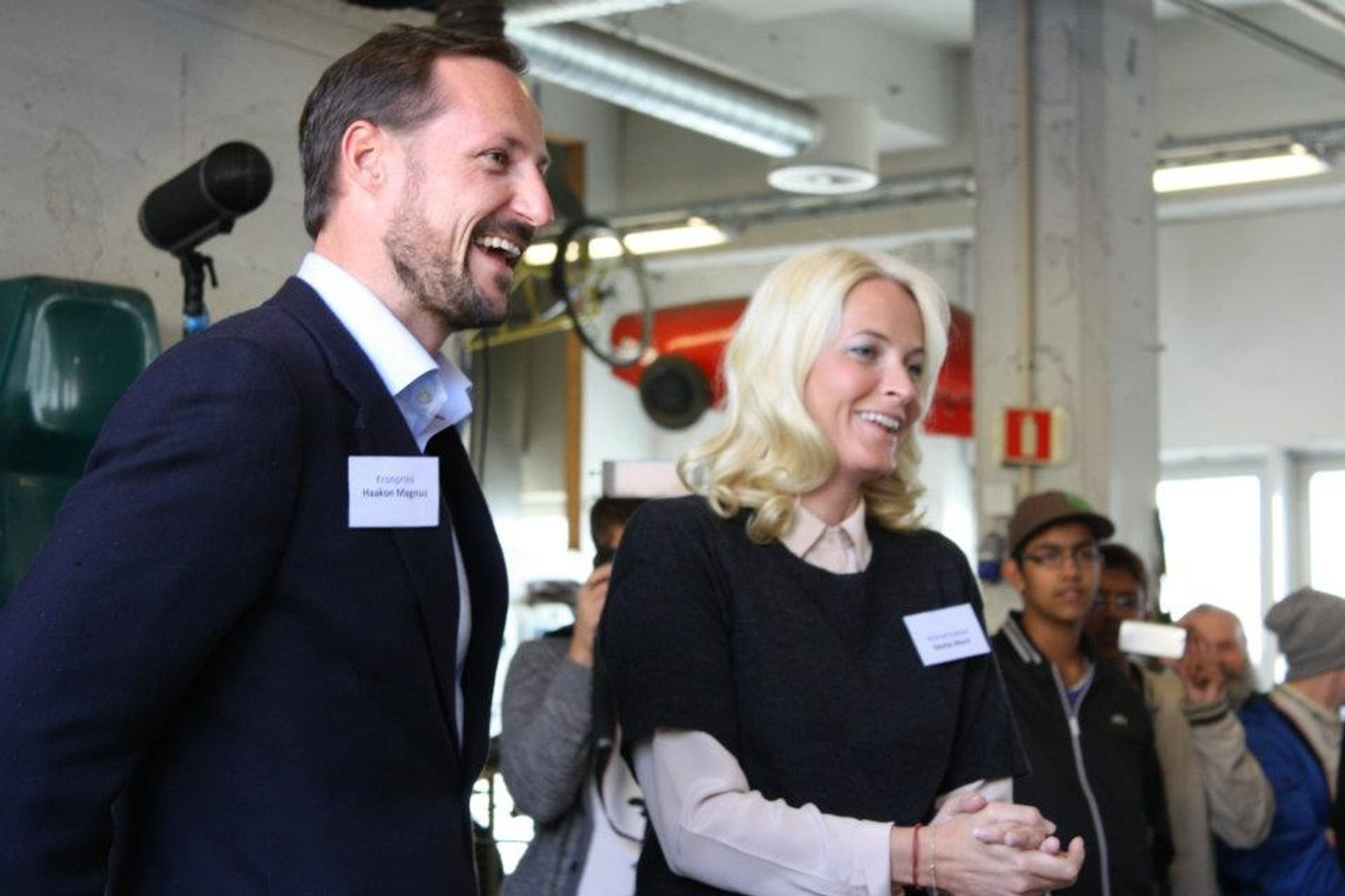Kronprins Håkon og Mette Marit under Kjør for Livet