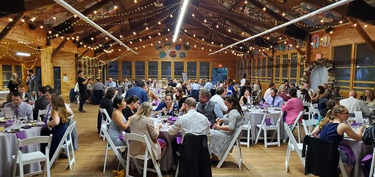 Wedding reception in mess hall