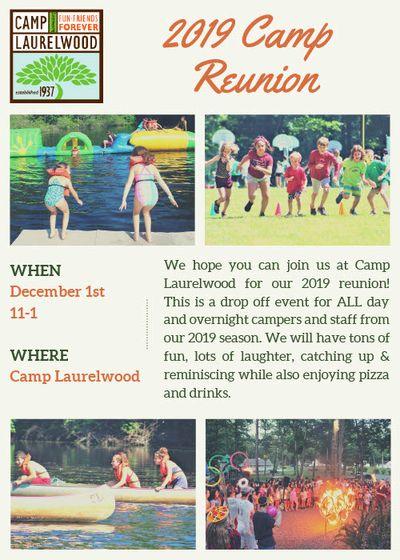 2019 Camp Reunion Flyer