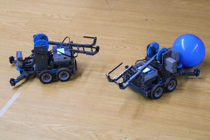 Robots made in Robotics specialty camp